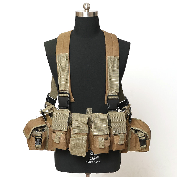 Chest Harness with mangazine Pouch CB Chest rig Gunner Kit Split Front Chest Rig