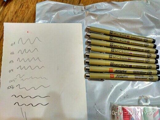 ручки симпатичные, взяли 10 шт пришли в коробке-пенале, не поломан, но ручки 3 шт еле расписали, 1 из них так и не записала((( чернил не много, кажется, быстро закончатся
