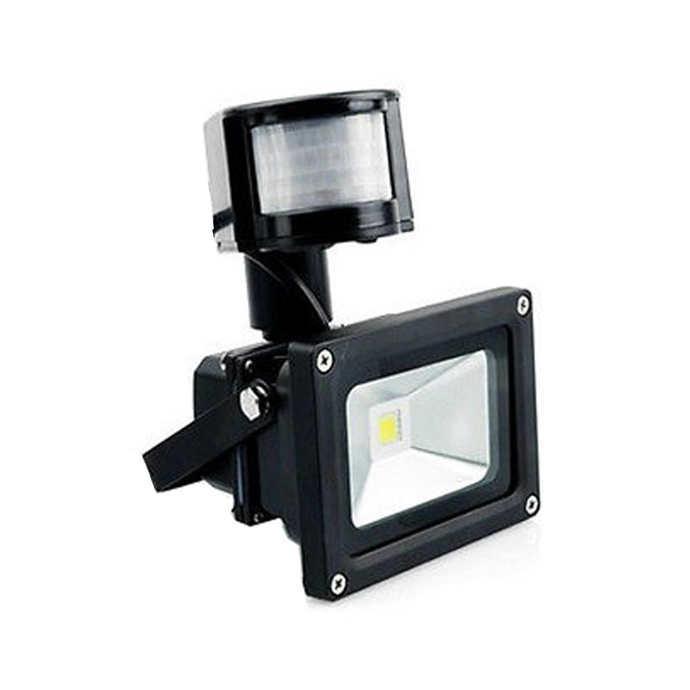 New 50W PIR Sensor LED Floodlight Warm/Cool White AC85-265V Flood Light Outdoor Lighting Lamp Black/Silver Shell Aluminum 30w 50w 100w 150w warm white cool white ac85 265v led floodlight flood light outdoor lighting wall garden spot light