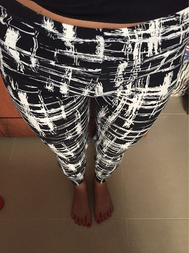 TOIVOTUKSIA Women Leggings Pantalones Black Milk Print Leggings Summer Style Soft Skin Material Nine Women Leggins 4