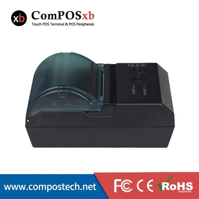 Китай завод бесплатная доставка 58 мм pos тепловая чековый принтер с USB + LAN + RS32 pos-система bluetooth 58 мм чековый принтер