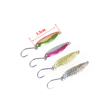 RoseWood Brand Fishing Lure Spoons 4pcs/Lot 3g Spoon Lures Metal Fishing Bait Salmon Trout Pike Bass Fishing Lure