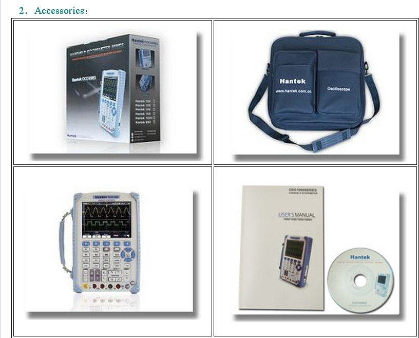 Портативный осциллограф Hantek DSO8060 60 МГц пять в одном