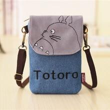 Totoro Taschen Hallo Kitty Sacos Baymax Totoro Brieftasche Frauen Kleine Cartoon Leinwand Denim Geldbörse Damen Mini Taschen Für Telefon Und schlüssel