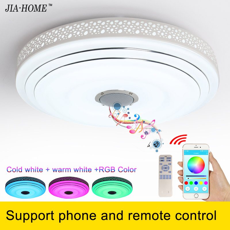 ФОТО 2017 RGB Dimmable 36W LED ceiling Light support phone and remote control  90-260V modern Led ceiling lamp for Bed Room