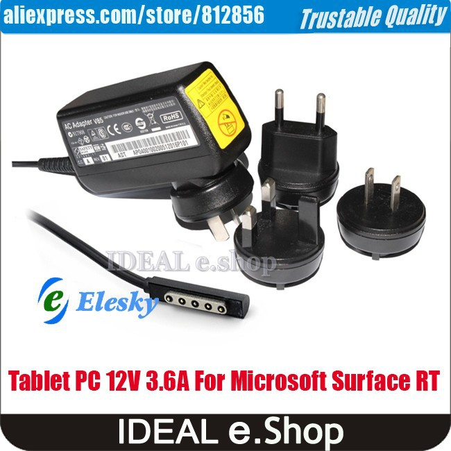 microsoft surface tablet pc 12V 3.6A adapter