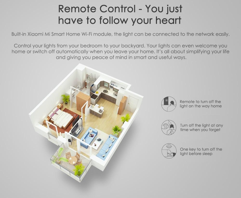 Original Xiaomi Yeelight II Smart LED Bulb E27 9W 600 Lumens Mi Light Smart Phone WiFi Remote Control 5