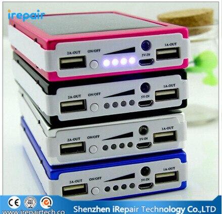 Настоящее 12000 мАч Внешней Солнечной Энергии Банк Зарядное Устройство 12000 мАч Powerbank Для iPhone Для Samsung Мобильный Телефон Tablet