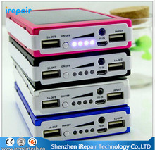 Real 12000mAh External Solar Power Bank Battery Charger 12000 mah Powerbank For iPhone For Samsung Cell Phone Tablet