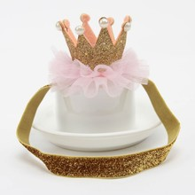 Girl's Shiny Elastic Crown Headwear