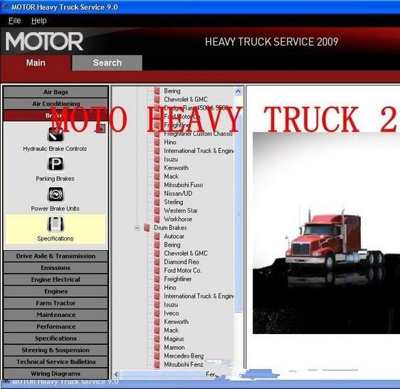 Motor heavy truck