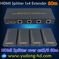 HDMI Splitter 1X4 HDMI Extender 60 м 1 до 4 HDMI Splitter над cat5e, cat6 с 1 hdmi вход 4 выход RJ45 Полный HD1080p