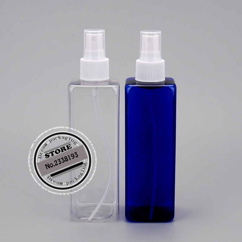 30pcs <font><b>250ml</b></font> square Refillable Portable <font><b>bottle</b></font> Traveler <font><b>Spray</b></font> Atomizer Empty Parfum <font><b>bottle</b></font> Scent Pump Case make up tool image