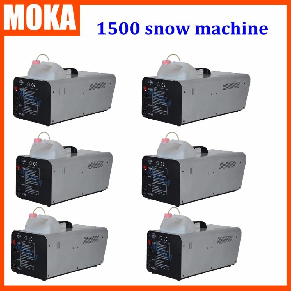 6 pcs/lot Stage FX 1500W spray DMX512 snow effect machine for DJ party theater coration High quality cheap price  недорого