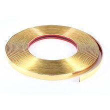 X autohaux авто декоративные мягкие пластиковые литье прокладки уравновешивания стикер золото тон 15 м х 18 мм