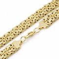 Cool Super Large 60cm * 18mm stainless steel Gold Plated Pop Punk Byzantine Link Chain Necklace Men's Charm Jewelry AN511