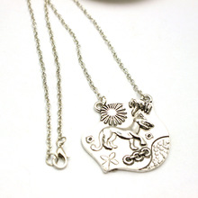 The European and American film and television peripheral accessories surrounding the young Wolf allison necklace pendant