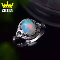 100 Natural Fire Opal Gems Ring Genuine Solid 925 Sterling Silver Precious Stone Gold Plated Woman