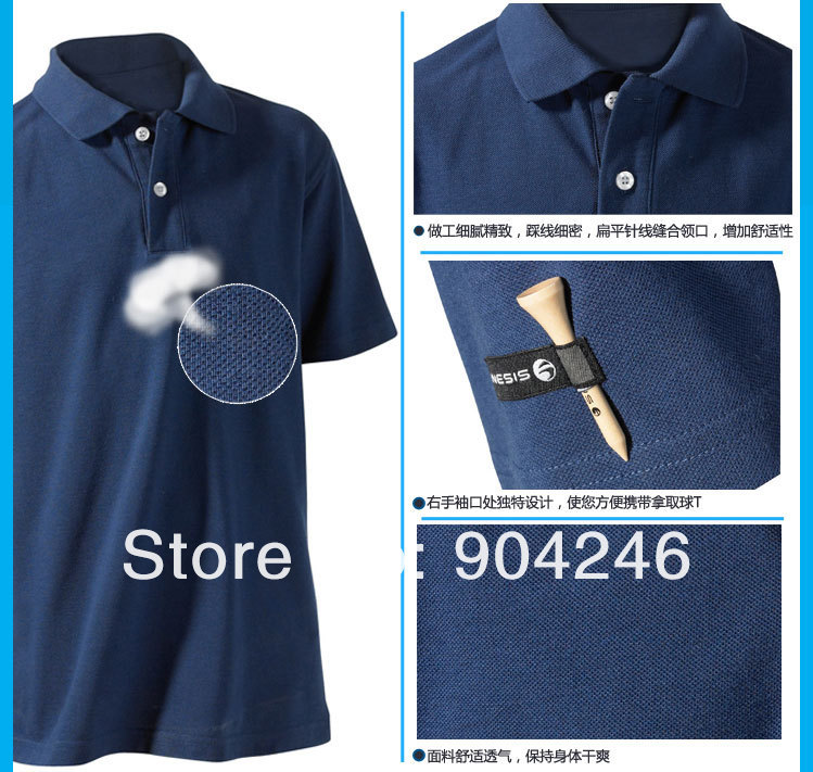 bbf1edfe17 Freeshipping DECATHLON Youngsters are short sleeve T-shirt golf contracted  lapel POLO shirt
