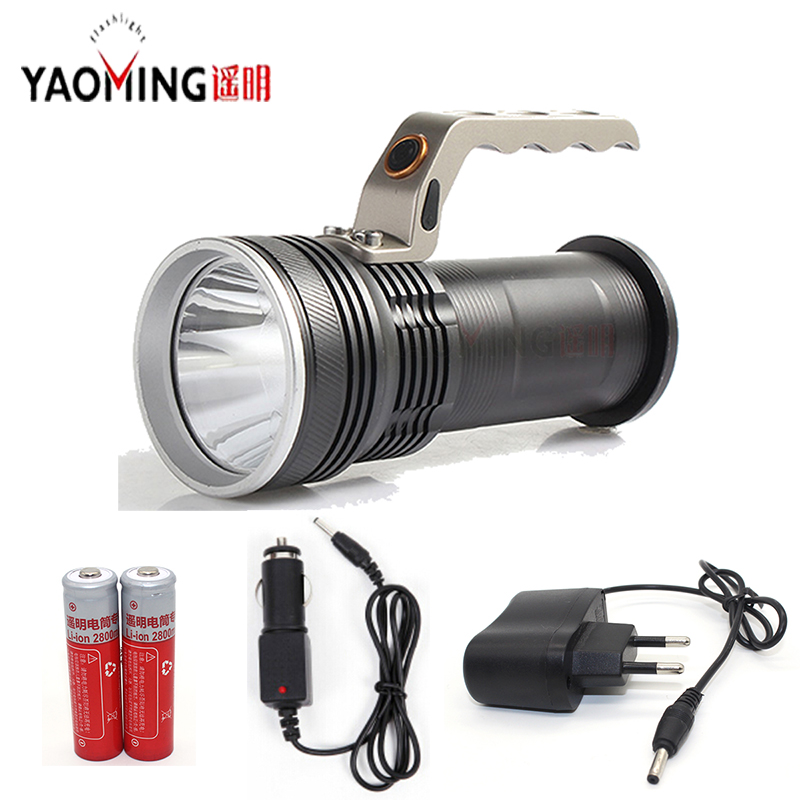 Spotlight CREE Q5 powerful led flashlight outdoor camping hand lamp with 18650 and charger searchlight protable linternas high power cree led hand lamp focus adjustable outdoor camping searchlight waterproof rechargeable hand lamp by 2 18650 torch