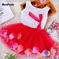 2016 Новый осень новый шаблон, Супер милый ребенок сладкий девушки марли кружева юбка Девушки Цветка юбки для девушки дети юбки для 3 М-2 Т