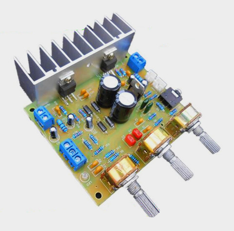 FREE Shipping! ! !electronic Enthusiast TDA2030A amplifier board HIFI 2.0 compatible dual-channel LM1875 15W + 15W MODULE