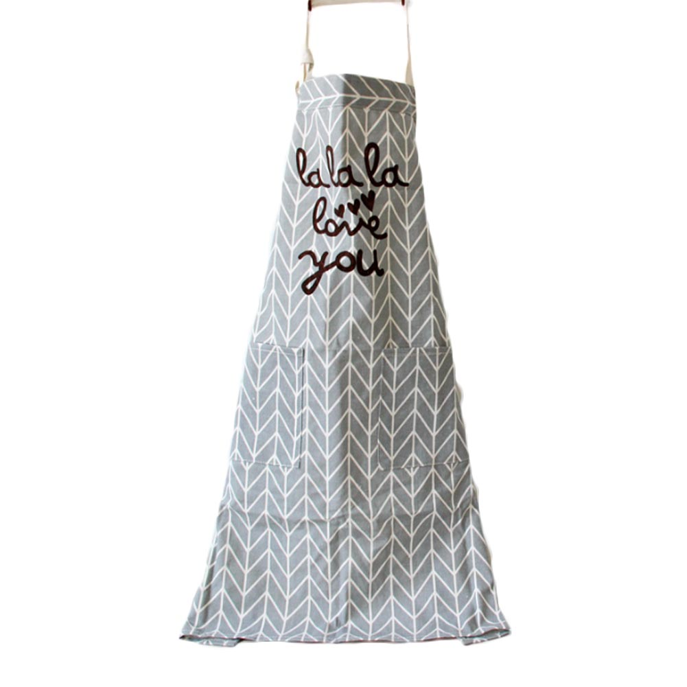 White linen apron - Comfortable Cotton Linen Stripe Pocket Sleeveless Apron Kitchen Products China Mainland