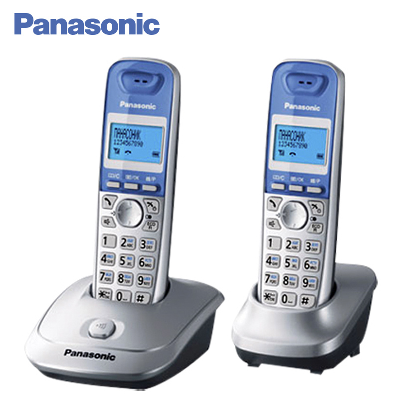 Panasonic KX-TG2512RUS DECT phone, Additional handset included, Eco-mode, Time / date display, Communication between handsets lucky family digital sports watch red led time and date display