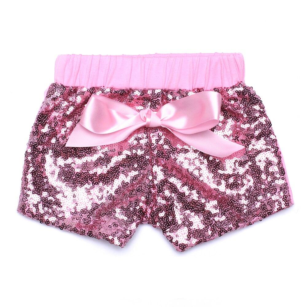 716ddca4a015c Bébé Pantalon Garçons Filles Shorts Enfants Pantalons À Paillettes Court  pour Enfants Premier Anniversaire Glitter Pantalon