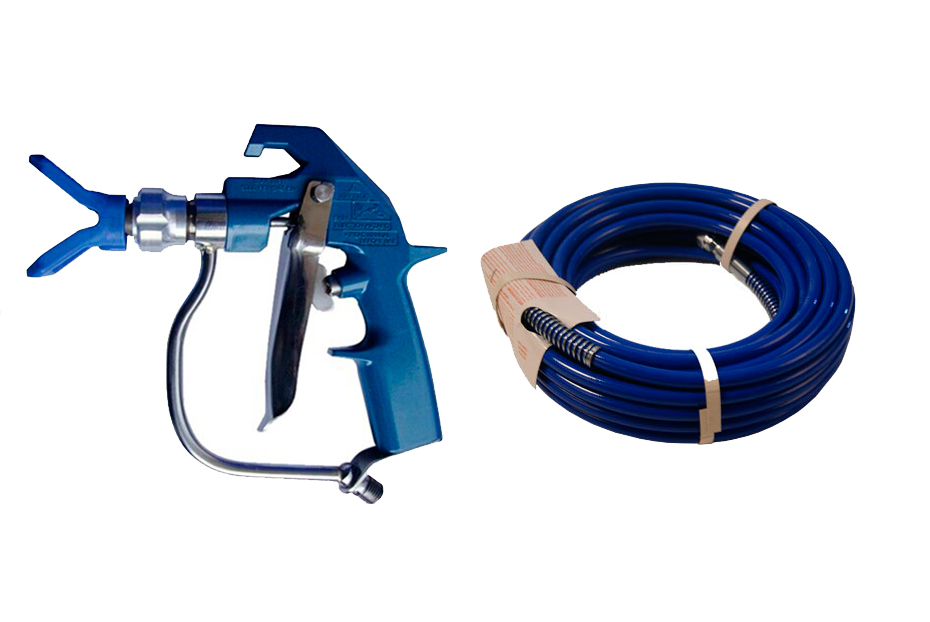 Aftermarket 20m BSP or NPS high pressure hose with Heavy duty textrue gun 4-finger  WPR 7250 Psi