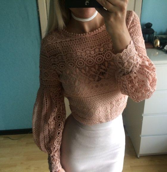 Красивая кружевная блуза с Алиэкспресс