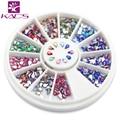 Hotsales AB 1.5*3mm gota de agua pedrería Perla nail Art Glitter AcrylicTips joya de uñas de Manicura de La Decoración de la Rueda