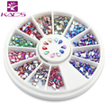 hotsales AB 1.5*3 mm water drop rhinestones nail Art Pearl Glitter AcrylicTips nail gem  Decoration Manicure Wheel