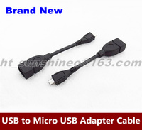 Mini Portable Plug and play USB 2.0 A Female to Micro B Male Adapter Cable Micro USB Host Mode OTG Cable For Samsung Galaxy S2