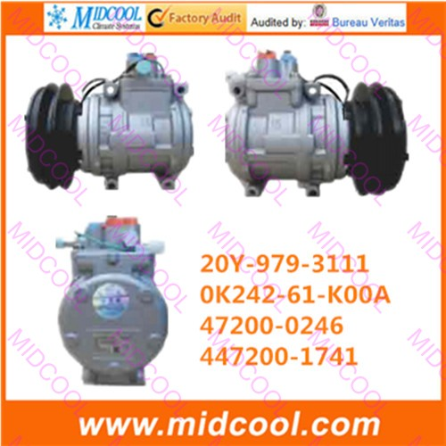 HIGH QUALITY AUTO AC COMPRESSOR 10PA15C 1GV 152MM FOR 20Y-979-3111  0K242-61-K00A  47200-0246  447200-1741HIGH QUALITY AUTO AC COMPRESSOR 10PA15C 1GV 152MM FOR 20Y-979-3111  0K242-61-K00A  47200-0246  447200-1741