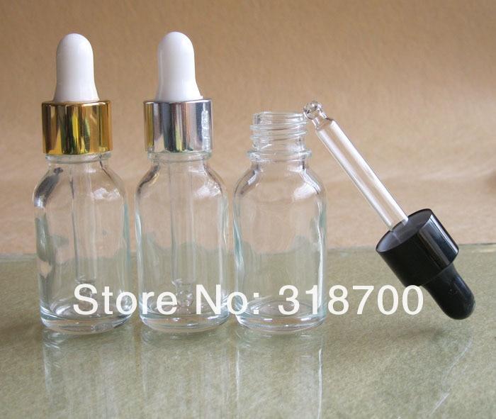 360x15 мл пустая прозрачная стеклянная бутылка с капельницей, 15cc стеклянный флакон с пипеткой, 15 емкости для косметики мл