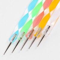 5 шт. 2way гвоздь участки искусство Пассат мрамор ручка инструмент быть бывшее в использовании на Стивен ногти 8590