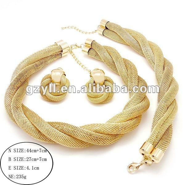 Chunky italian gold jewelry sets free shippingin Jewelry Sets from