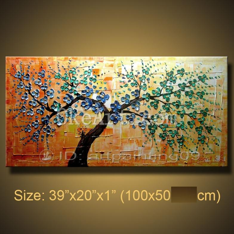 Exceptional Home Decoration Paintings Part 5 Wall Painting Abstract Oil Fl Pop Knife