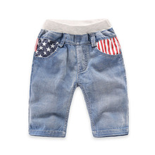 soft Denim Boys Jeans Kids Short Trousers Korean Children Pants Casual Retail Fashion 2016 Summer