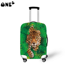 ONE2 amazing design fashion travel luggage cover travel bag cover animal pattern for suitcase boys good quality 22,24,26 inch