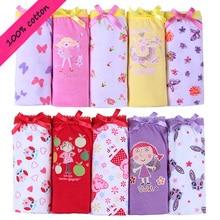 5pcs set cotton Panties For Girls Kids Short Briefs baby girl underwear children underwear child cute