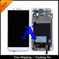 Free Shipping + Tracking No. 100% tested  Original For LG Optimus G2 D802 D805 LCD Screen Digitizer Assembly Frame - White/Black