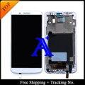 Shipping + Tracking No. 100% probado Original para LG Optimus D805 D802 G2 pantalla LCD digitalizador asamblea marco - blanco / negro