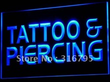 I482 Tattoo Piercing Servicio Abierto NUEVA LED Luz de Neón Regístrate On/Off 7 Colores