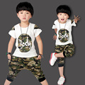 Boys Clothing Sets Cotton Casual Children Sports Suits Summer Kids Tracksuits Fashion Camouflage Kids Clothes For Boys 2-12 Y
