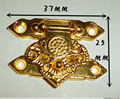 10Pcs 37*25MM zinc alloy buckle hasp hasp wooden wine box with lock Buckle Antique Padlock Hardware
