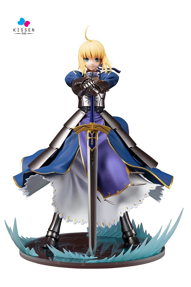 Kissen New Version Fate Stay Night Saber Lily Boxed 14cm PVC Action Figure Model Collection Toy Gift Figma fate stay night fate cosplay saber 14cm 5 5 boxed faceswipe garage kit action figures toys face change model