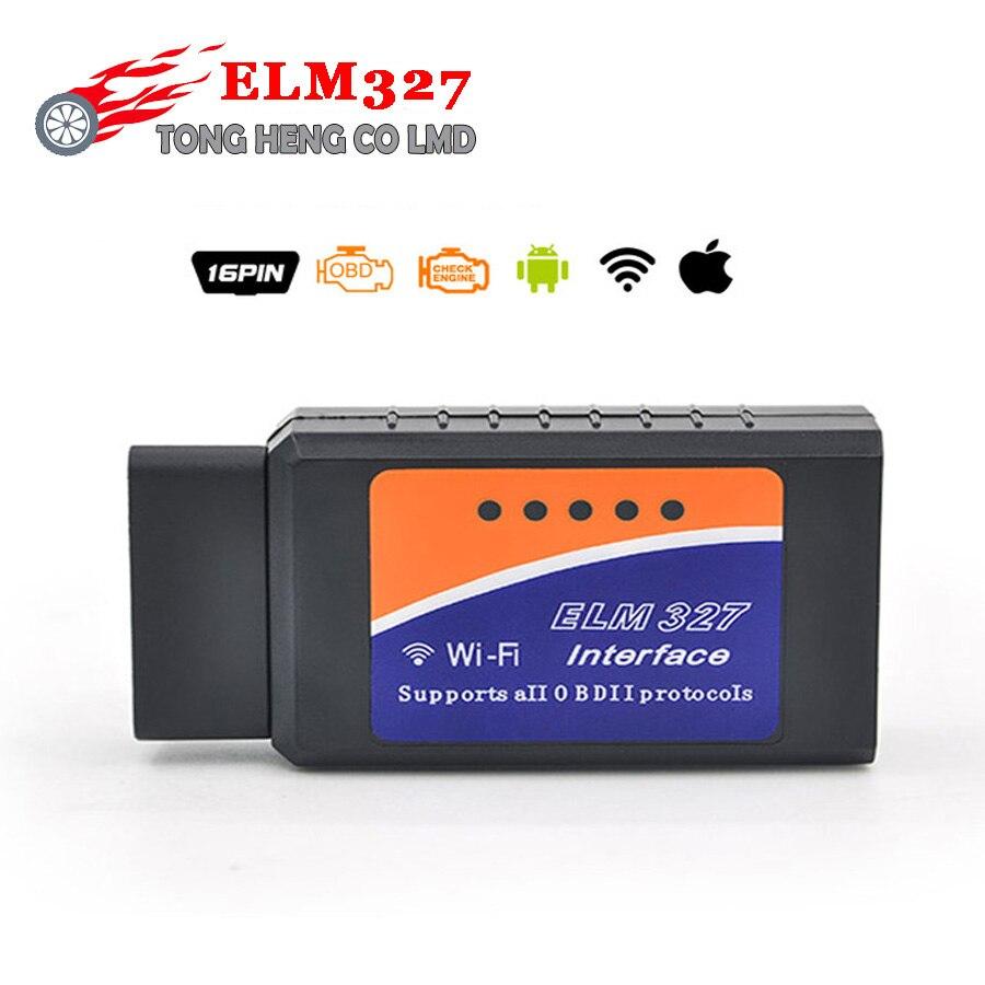 Prix pour Haute Qualité Auto WiFi OBD/ODB2 Outil De Diagnostic ELM327 WIFI Scanner OBDII OBD livraison gratuite