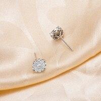 zocai модный природный 0.55 ст сертифицированный н / с . и . серьги с бриллиантами ювелирные изделия серьги шпильки круглого сечения 18 к роуз